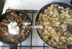 Картошка с курицей и шампиньонами - фото шаг 6