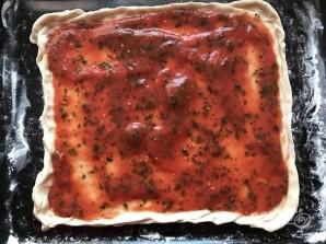 Потрясающая итальянская пицца с моцареллой - фото шаг 10