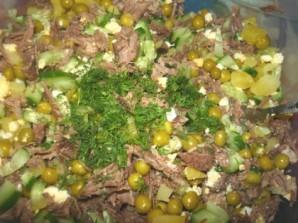 Мясной салат с говядиной - фото шаг 5