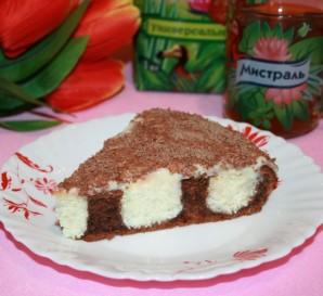Шоколадный торт с творожно-кокосовыми шариками - фото шаг 10