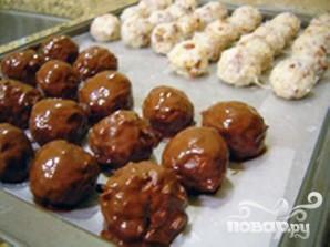 Кокосовые шарики в шоколаде - фото шаг 7