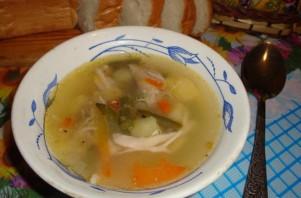 Суп куриный со стручковой фасолью - фото шаг 10