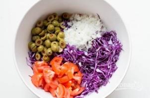 Салат из фиолетовой капусты - фото шаг 2