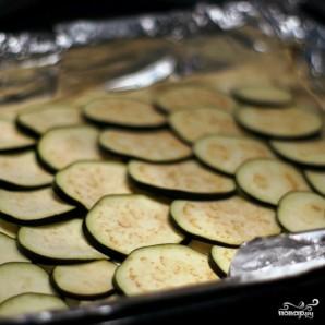 Пирог из слоеного теста с сыром и баклажаном - фото шаг 5