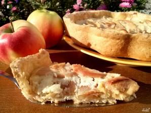 Яблочный пирог со сметанной заливкой (очень вкусный) - фото шаг 9