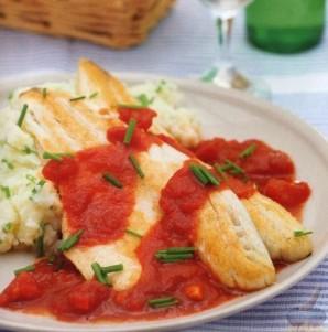 Филе сибаса с томатным соусом  - фото шаг 4