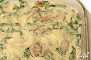 Лазанья с курицей, грибами и шпинатом - фото шаг 5