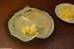 Блинчики с фруктовой начинкой - фото шаг 7