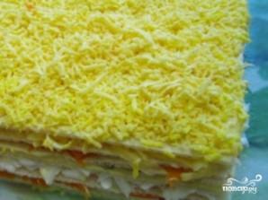 Закусочный торт из вафельных коржей - фото шаг 9