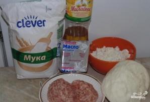 Открытый пирог с мясом и капустой - фото шаг 1