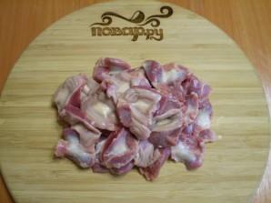 Тушеные куриные желудочки - фото шаг 4