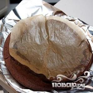 Шоколадный пирог с сердцем - фото шаг 5
