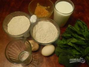 Диетические зеленые вафли с мороженым - фото шаг 1