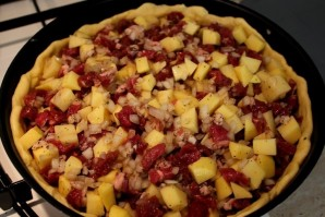Пирог с бараниной и картошкой - фото шаг 5