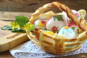 Съедобная корзинка для пасхальных яиц - фото шаг 8