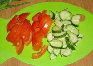 Овощной салат на скорую руку - фото шаг 1