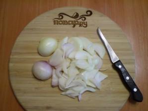 Огуречный салат с луком на зиму - фото шаг 3