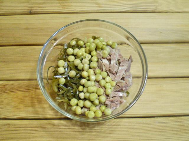 Диетический салат из морской капусты - фото шаг 4