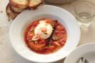 Томатный суп с яйцами