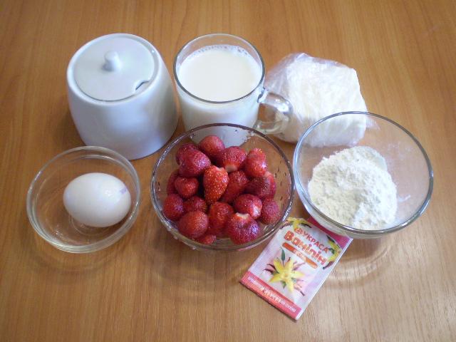 Рецепт Клубничный заварной крем