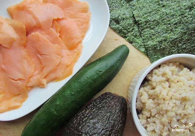 Рецепт Роллы с копченым лососем