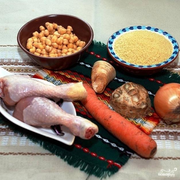 Рецепт Кускус с курицей и овощами