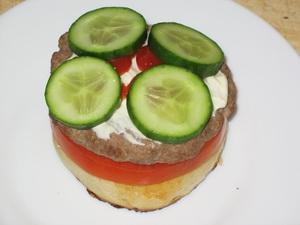 Бургер с ветчиной - фото шаг 5