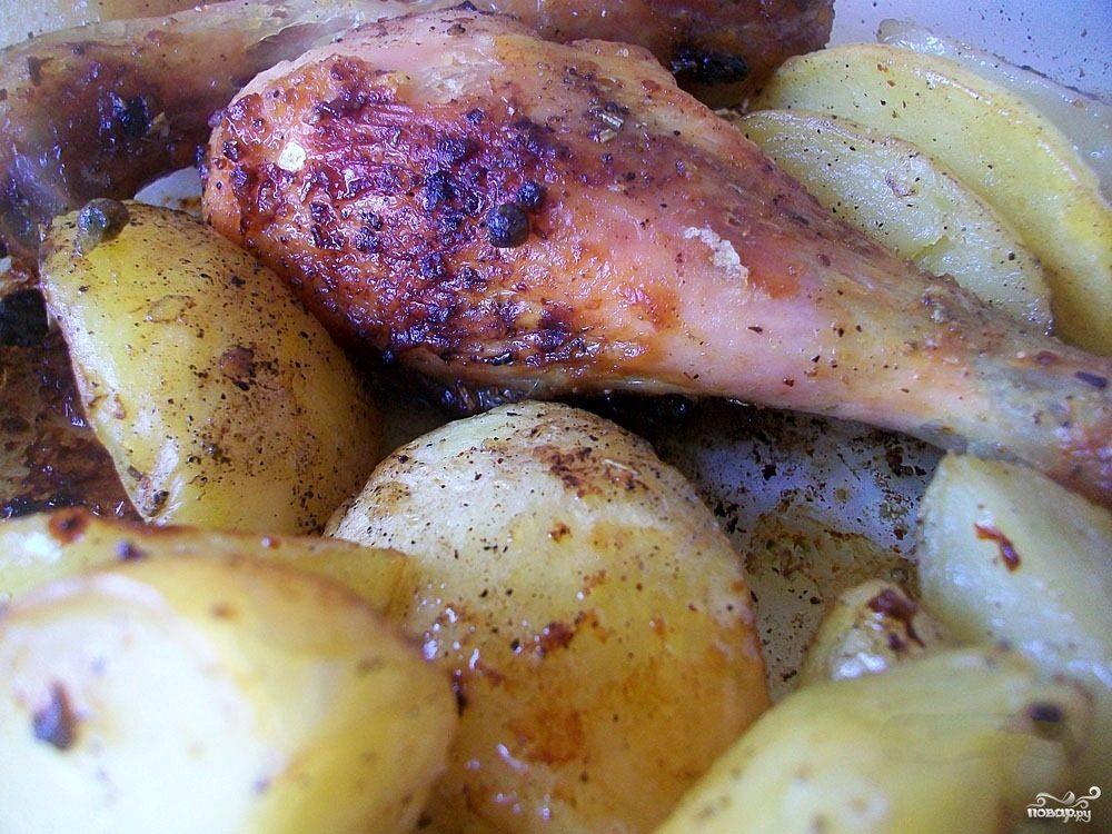 Голень куриная с картошкой
