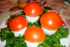 Яйца фаршированные Грибная полянка