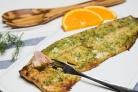 Филе лосося запеченное с зеленью