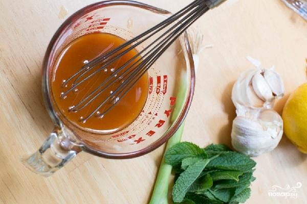 Салат из запеченных баклажанов - фото шаг 3