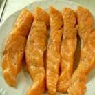 Рецепт Стейки из семги, маринованные в дижонской горчице с зеленым салатом
