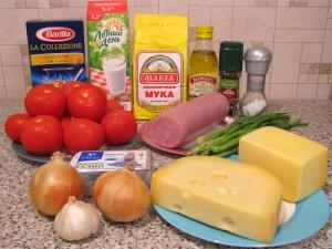Рецепт Лазанья с сыром и ветчиной