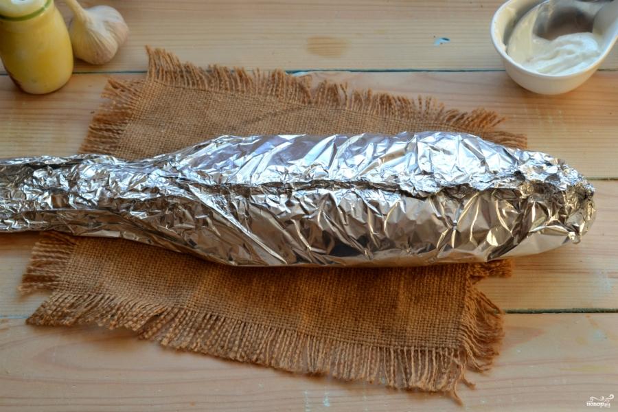 Рыба, запеченная под соусом в духовке - фото шаг 5
