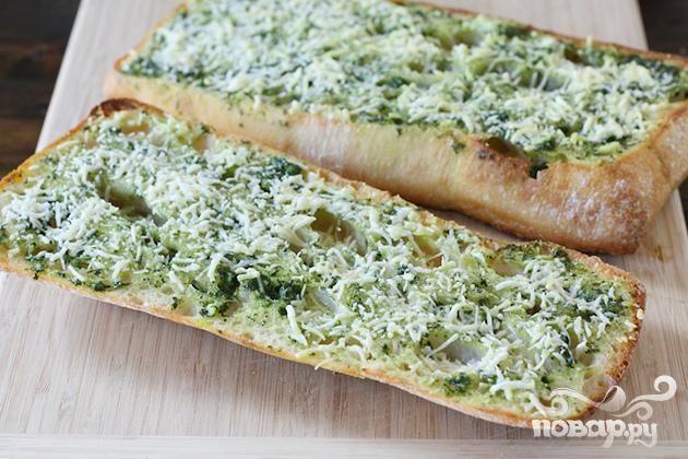Бутерброды с базиликовым маслом