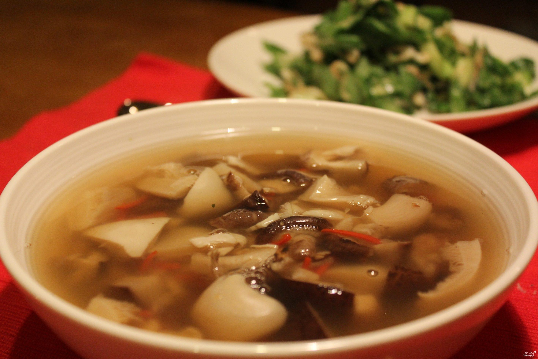 классический грибной суп iz sushennix