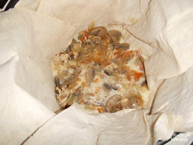 Слоенный пирог из лаваша - фото шаг 7