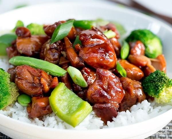 Курица терияки с рисом - фото шаг 8
