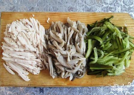 салат с вешенками и с курицей рецепт с фото