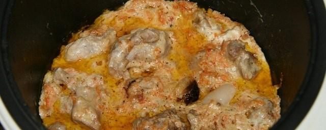 Мясо со сметаной в мультиварке - фото шаг 6