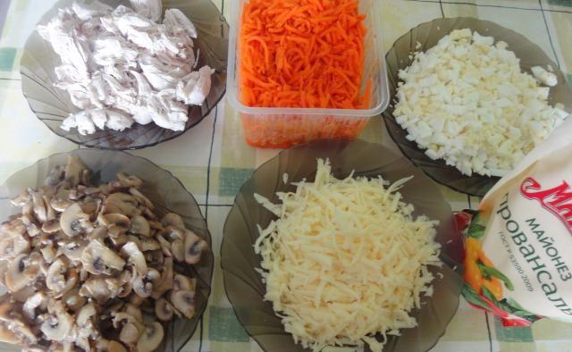 грибы и яйца салат рецепт
