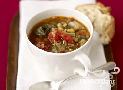 Суп с чечевицей и свеклой