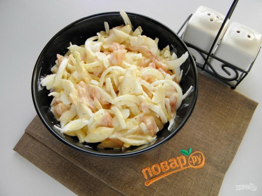 Салат с тунцом и креветками рецепты 53