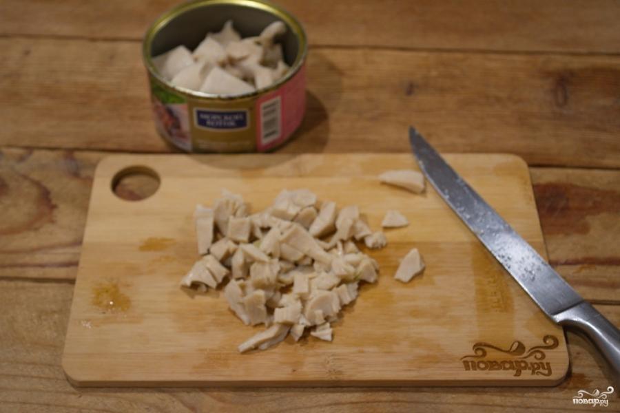 Картофельный салат с кальмарами и огурцами - фото шаг 4