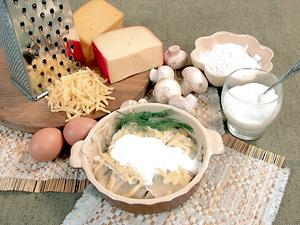 Рецепт Равиоли с сыром и грибами