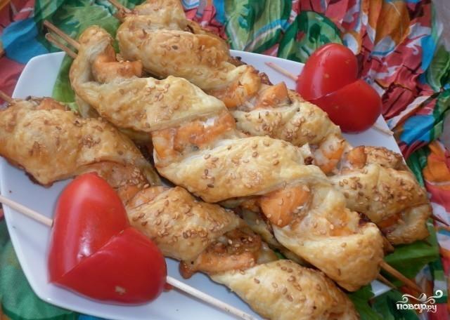 Шашлык из рыбы в духовке - фото шаг 4