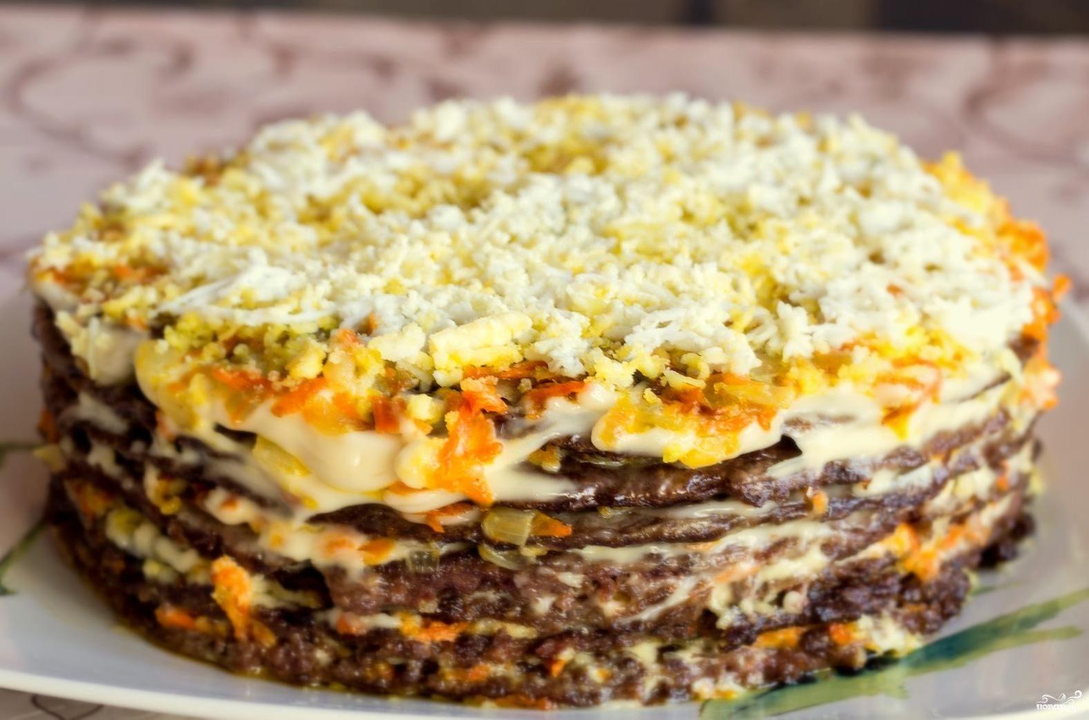 Торт из печени рецепт с фото пошаговый рецепт с фото