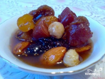 Рецепт Варенье из сухофруктов и орехов