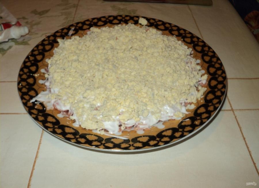 салаты с рыбой и сыром рецепты с фото