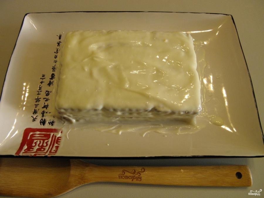 торт из печенья без выпечки со сметаной пошаговый рецепт с фото со сметаной